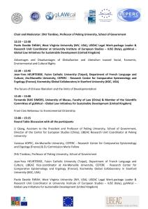 LIBEAC - August 8, 2014 - AGENDA OF THE WORKSHOP final version PAGE 3