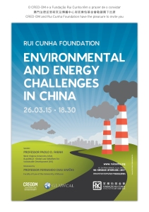 "Paolo Davide Farah Environmental and Energy Challenges in China"", Fundação Rui Cunha, Macao, China, March 26, 2015"