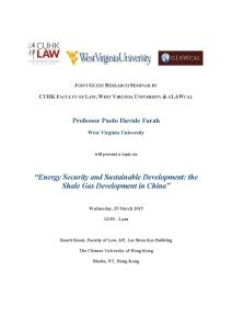 Paolo Davide Farah - Lecture Chinese University of Hong Kong March 25, 2015