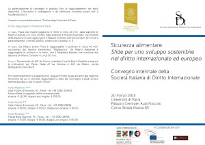 Program - Conference Italian Society of International law - 1
